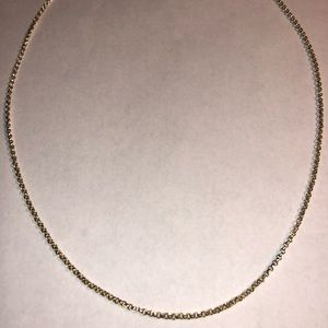 """Rolo Style Chain or Necklace Sterling Silver 19"""""""